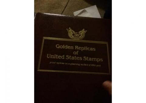 Golden Replica of unlisted States Postal stamps and first day release